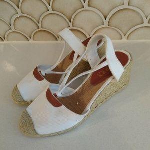 Ralph Lauren espadrille Wedge Platform Sandals 7 m